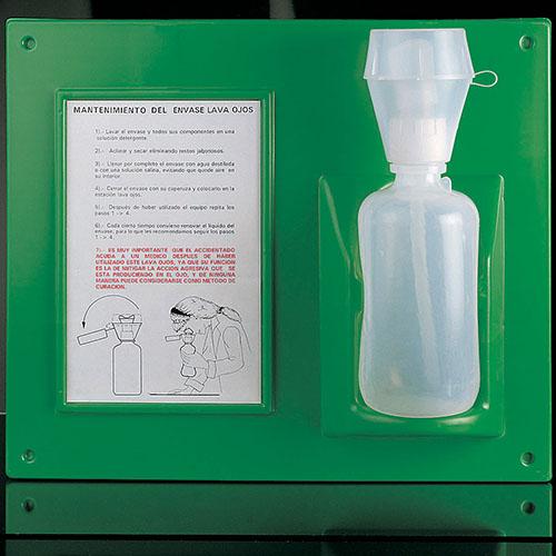Бутыль для промывания глаз с инструкцией и стендом