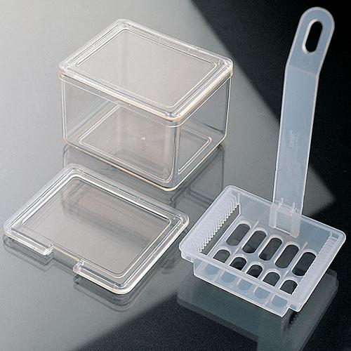 Емкости со штативом для окрашивания предметного стекла