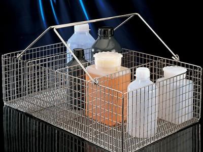 Корзины металлические для бутылей и контейнеров