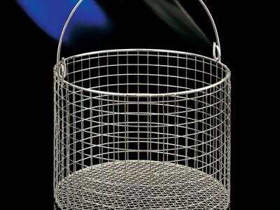 Корзины металлические круглые с крышкой