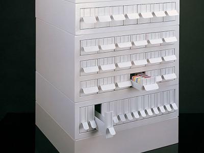 Кабинет для хранения кассет и предметного стекла