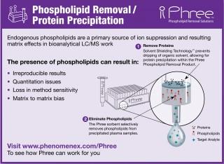 Phree: Вилучення фосфоліпідів та осадження білків